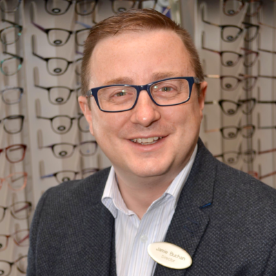 Jamie runs his own Specsavers business