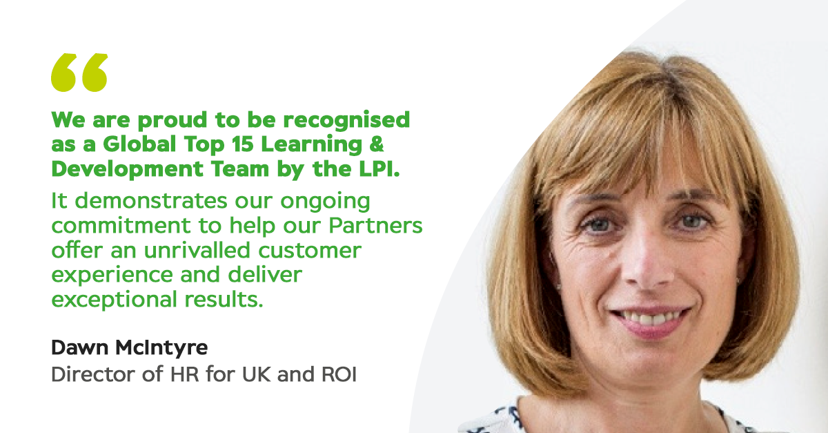 Look what we won!  Our Learning and Development team are in the top 15